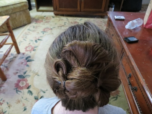 A pretty shamrock bun