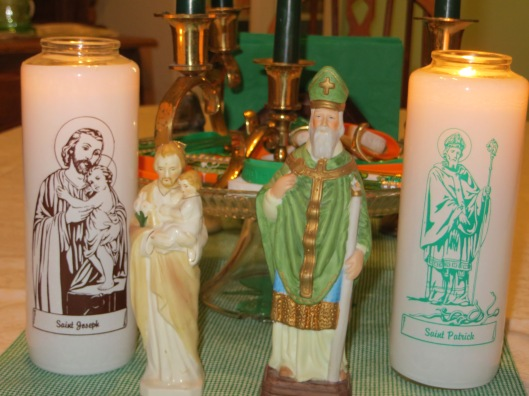 Saints Patrick and Joseph preside over the Feast...