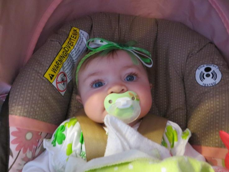 Happy Irish baby...